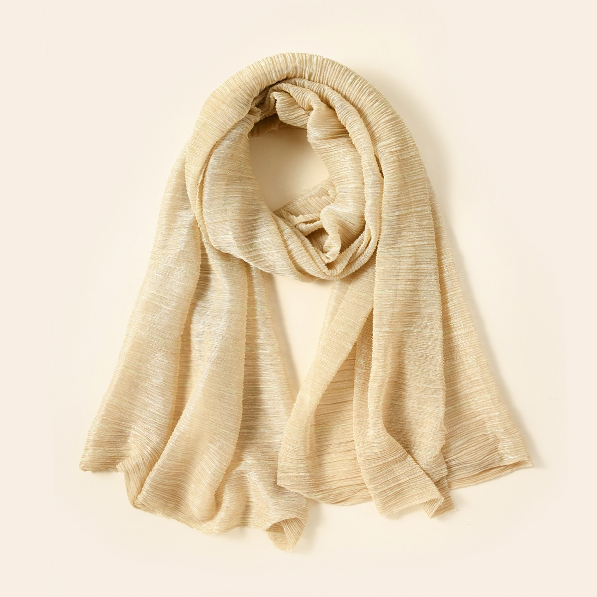 solid crumpled scarf