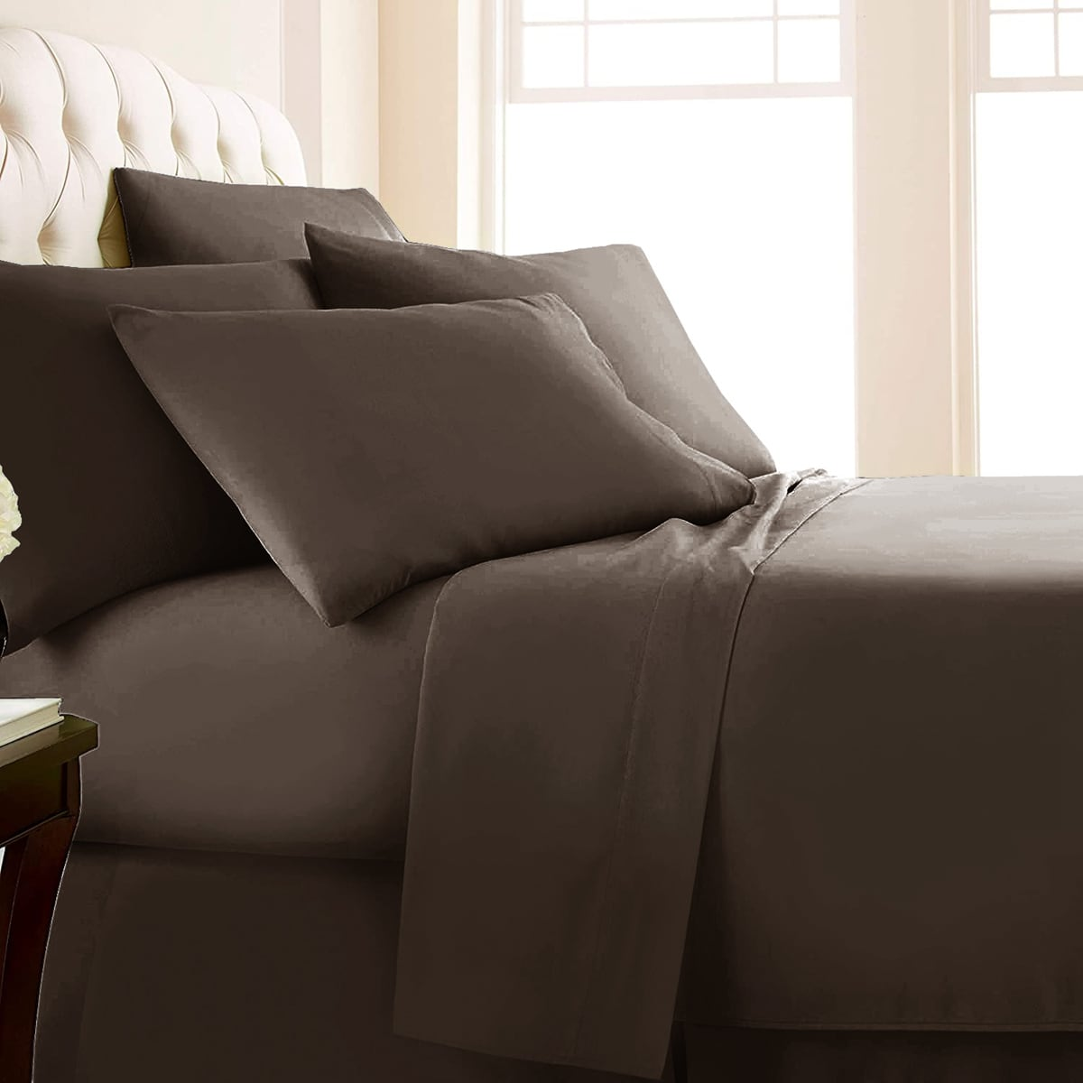 Solid Color Sheet & Pillowcase Set Without Filler