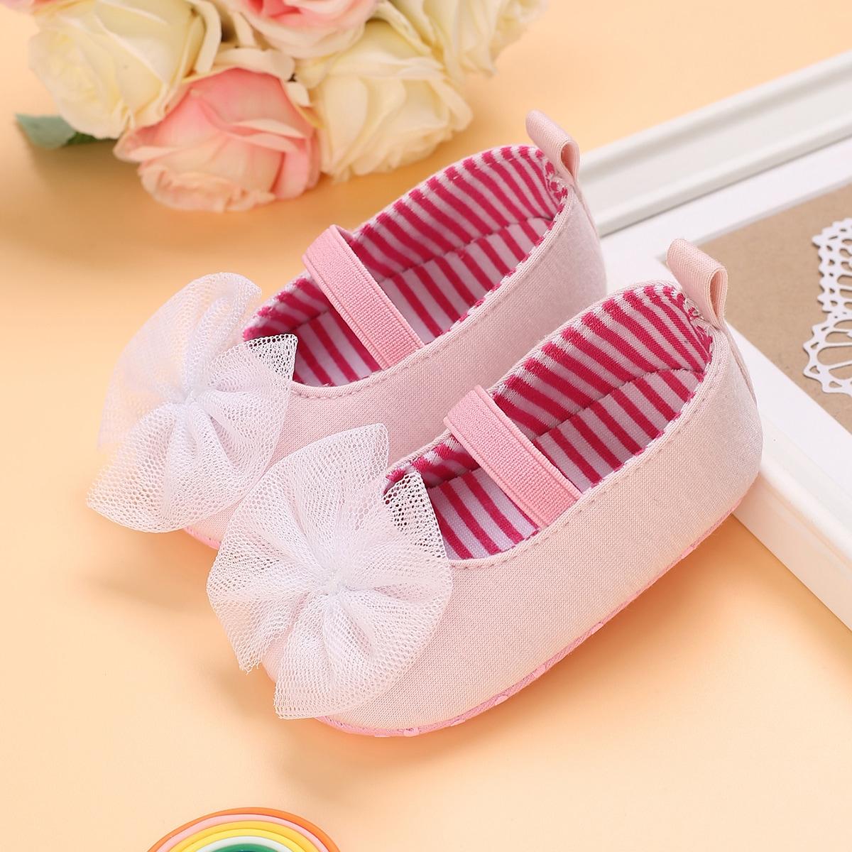 SHEIN Mary Jane Flats met strikdecor voor babymeisjes