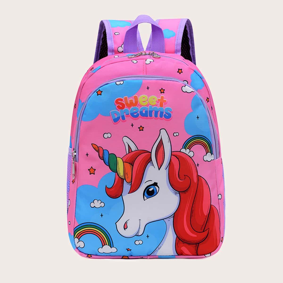 Рюкзак для девочек с мультипликационным рисунком SheIn skbag18210604624
