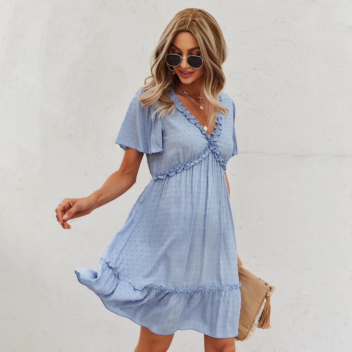 Платье в горошек SheIn swdress23210520602