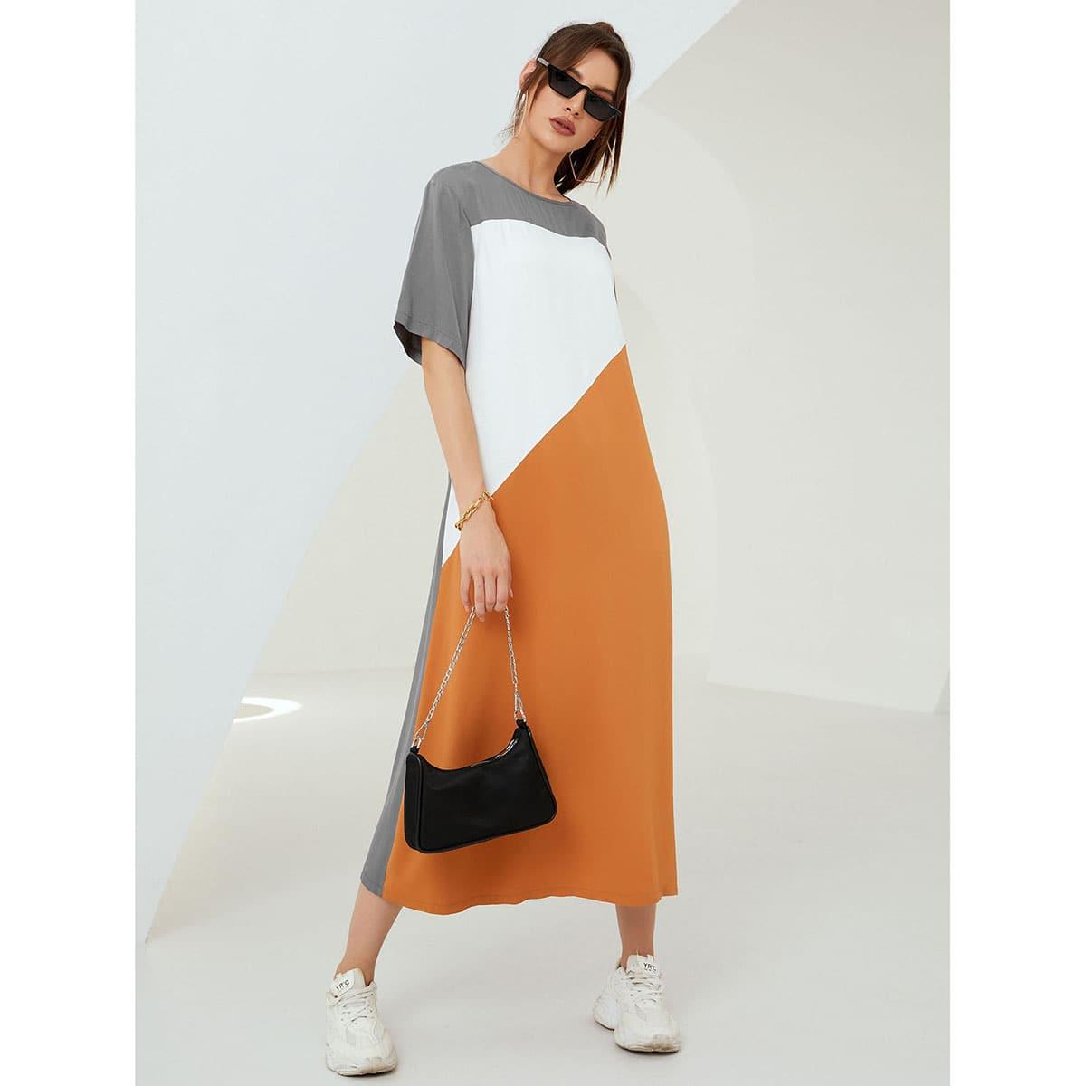 Платье-туника комбинированным принтом SheIn swdress25210521485