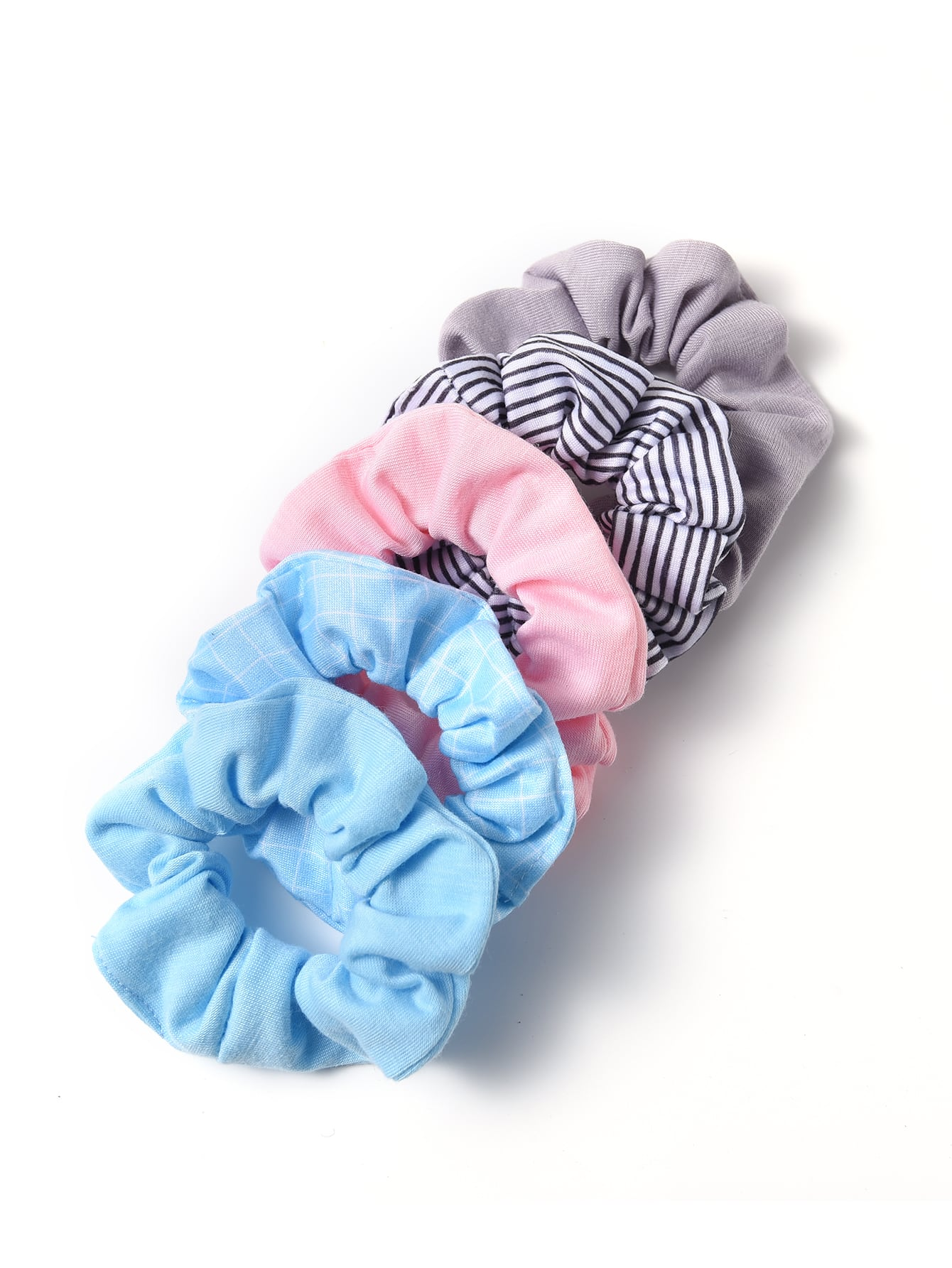 5pcs striped scrunchies