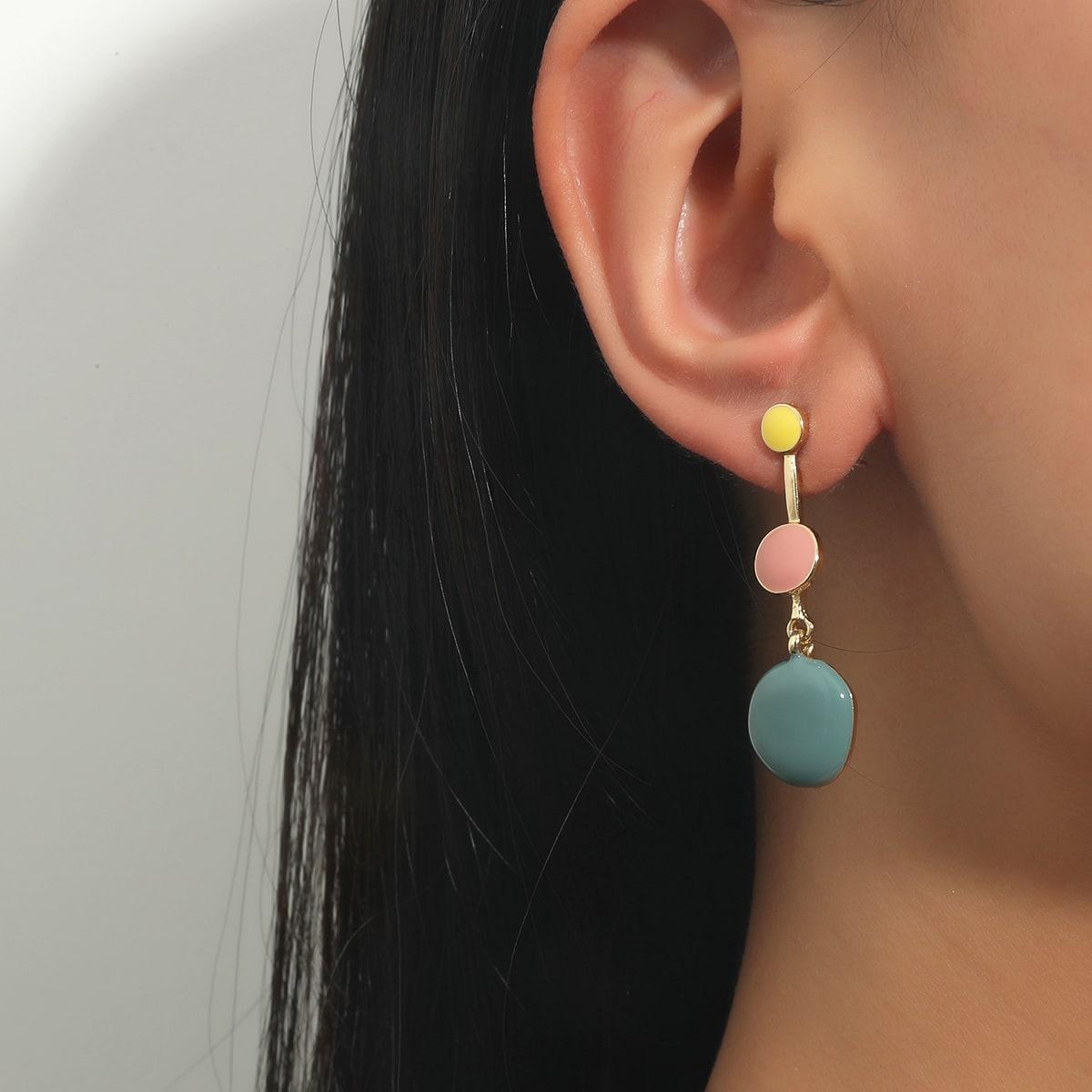 Round Decor Earrings