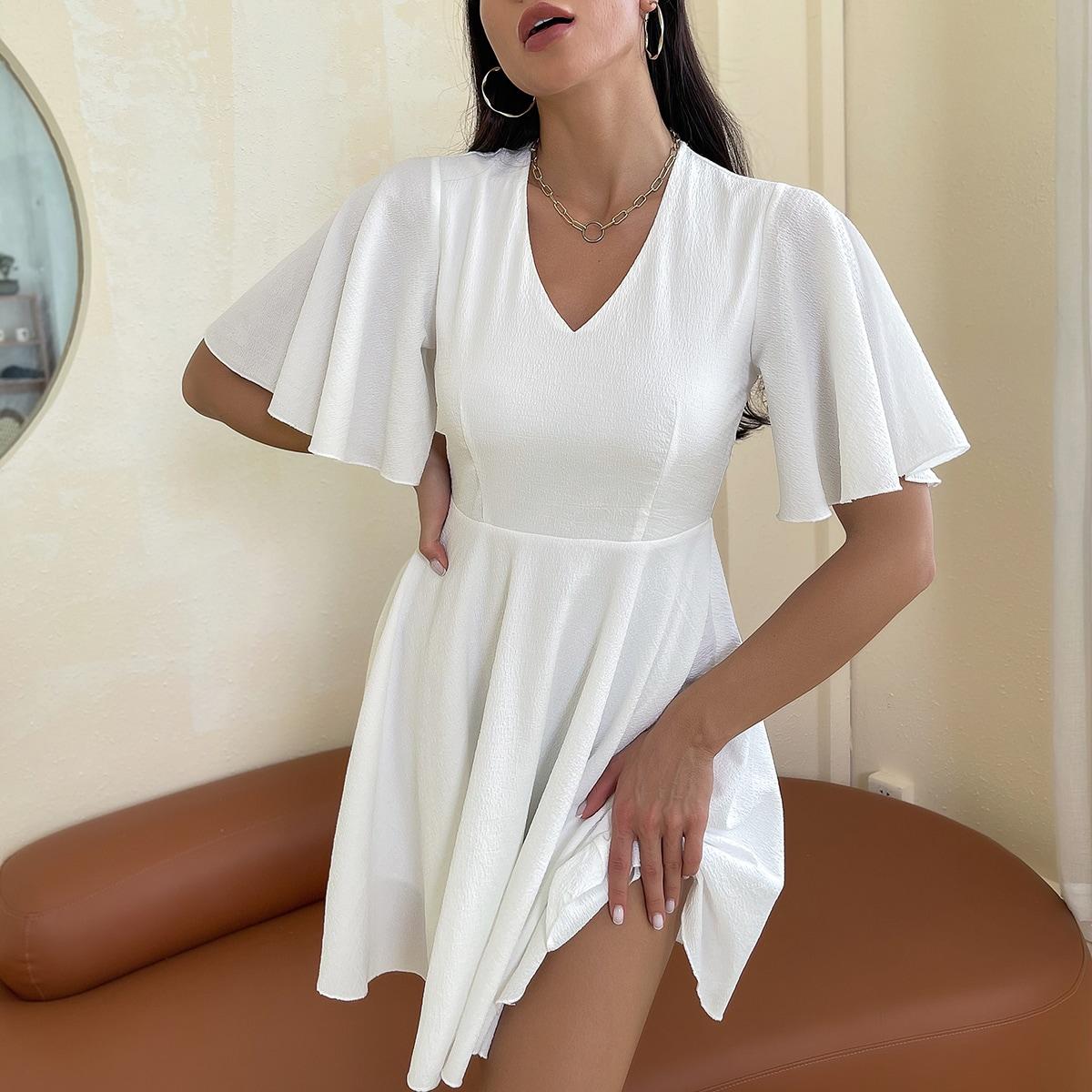 Платье с рукавами-воланами SheIn swdress25210513207