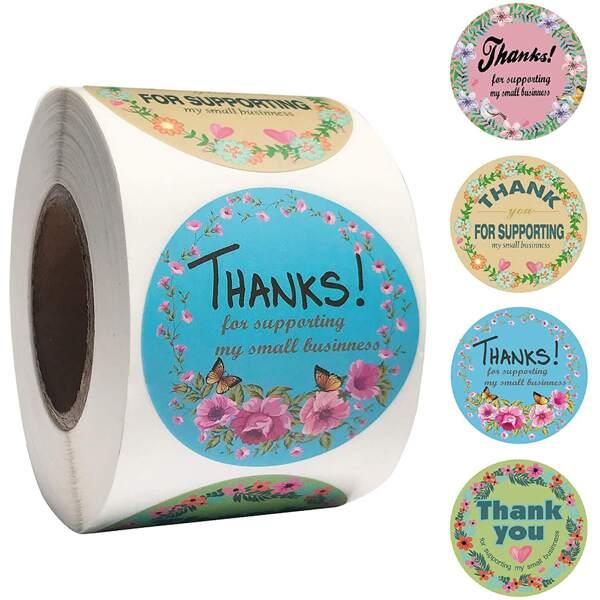 500pcs Slogan Graphic Sticker, Multicolor