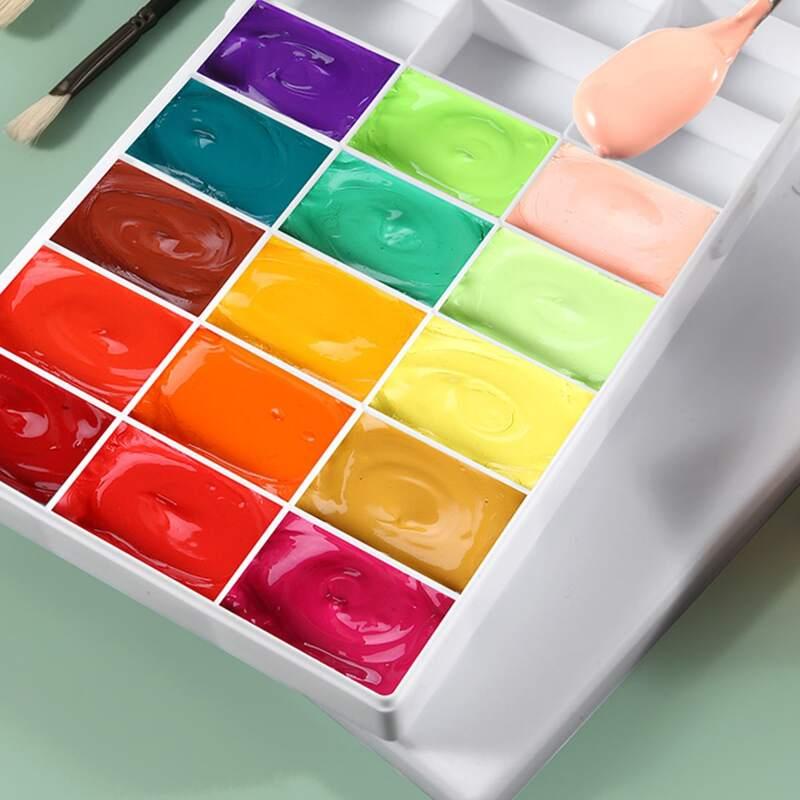 1pc 24 Grid Color Box, White