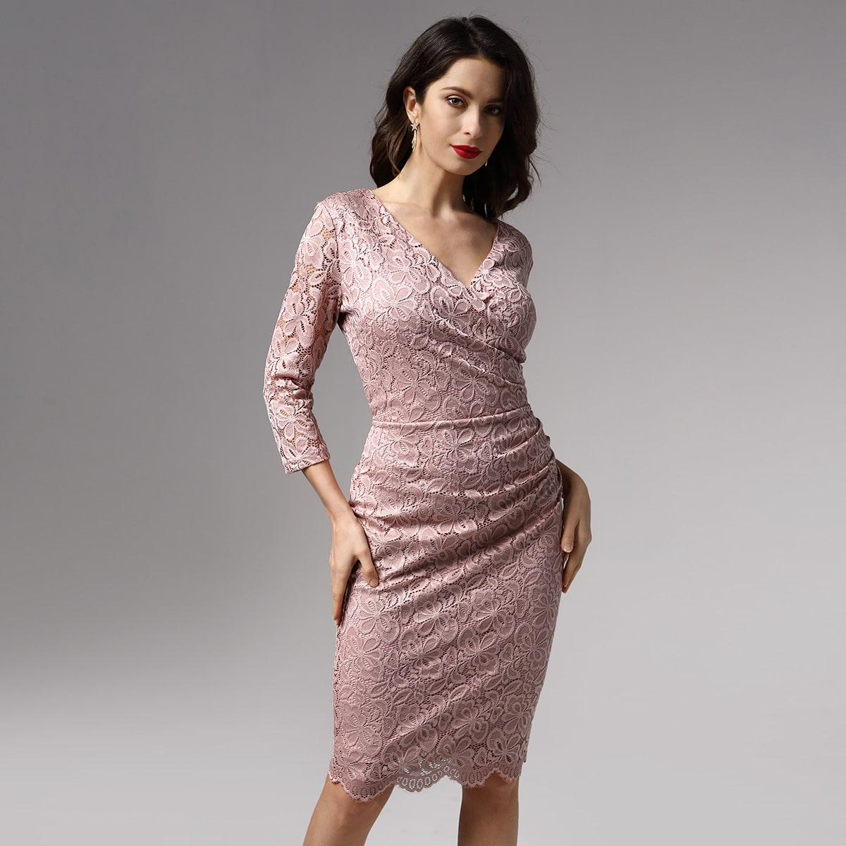 Кружевное платье для выпускного вечера от SHEIN