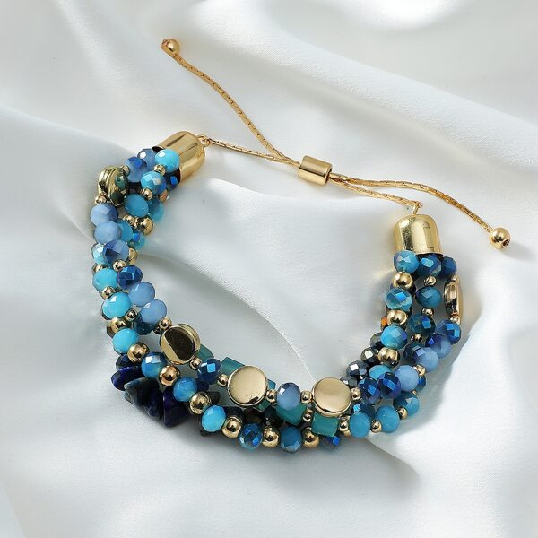 Layered Beaded Bracelet, Blue