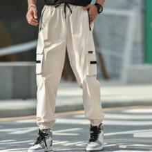 Guys Flap Pocket Drawstring Cargo Pants