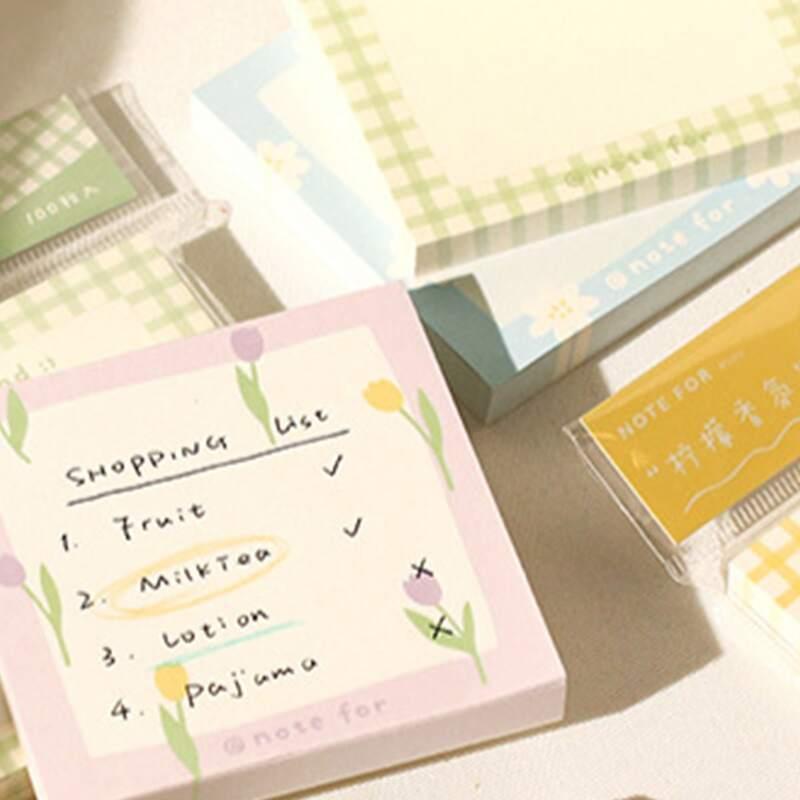 1pc Flower Print Random Memo Pad, Multicolor