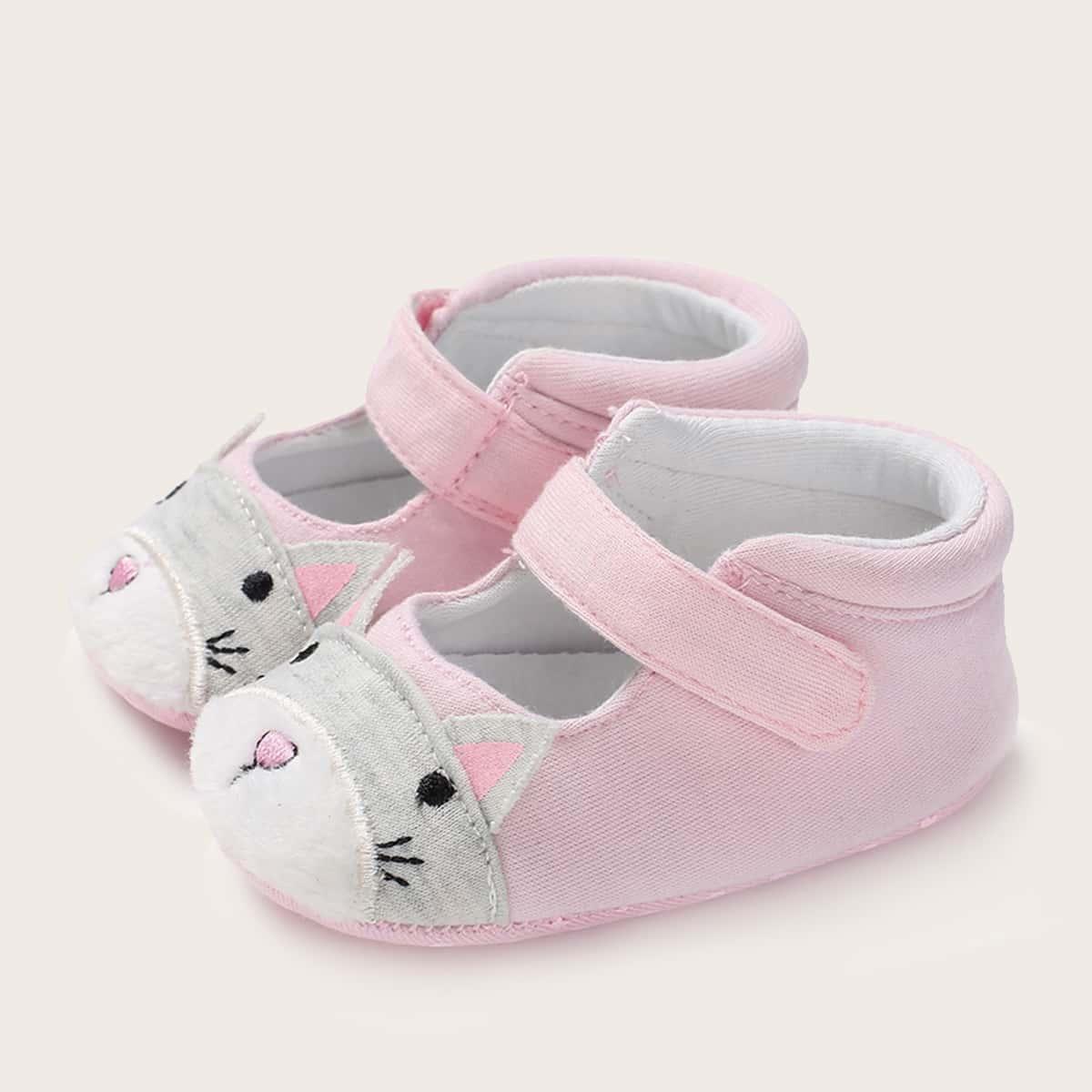 SHEIN Flats met klittenband voor babymeisje Cartoon