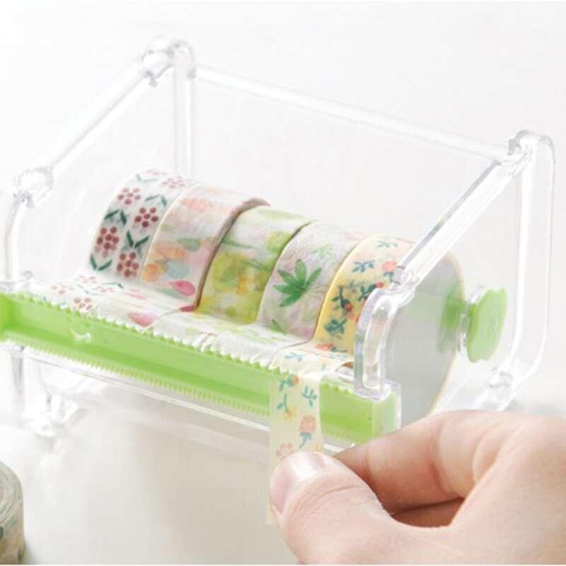 1pc Random Color Tape Dispenser, Clear