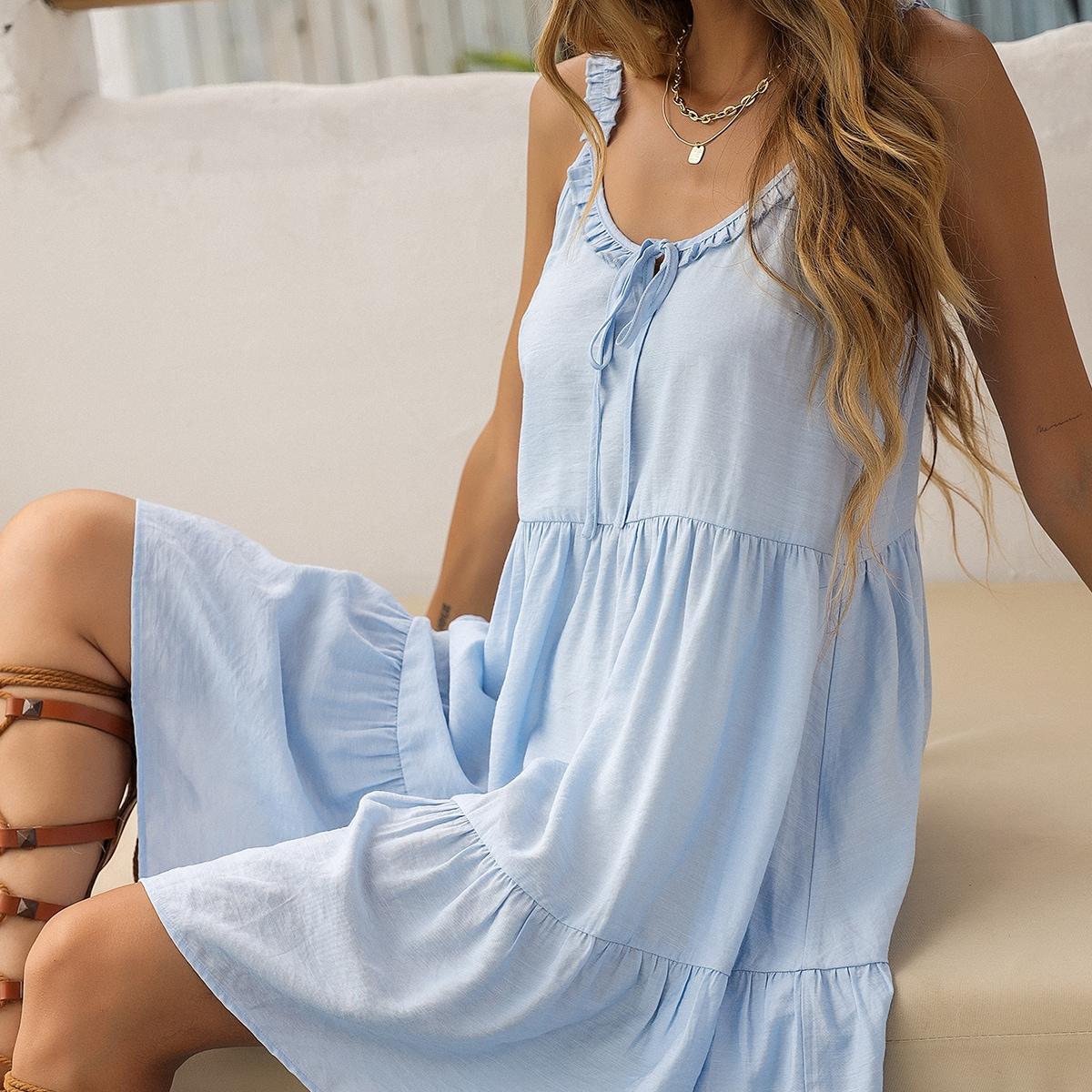 Платье на бретелях SheIn swdress23210415222