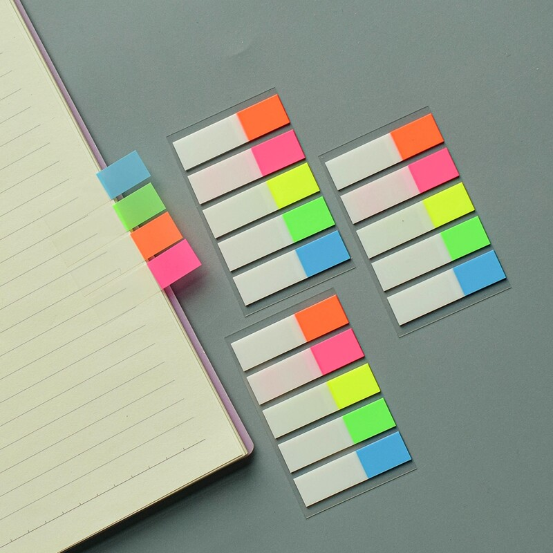 1pc Index Sticky Note, Multicolor
