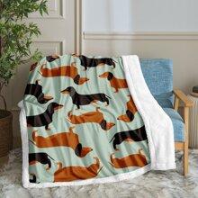Dog Print Blanket