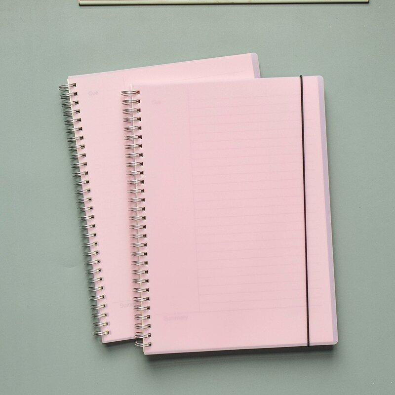 1pc Plain Spiral Notebook, Baby pink