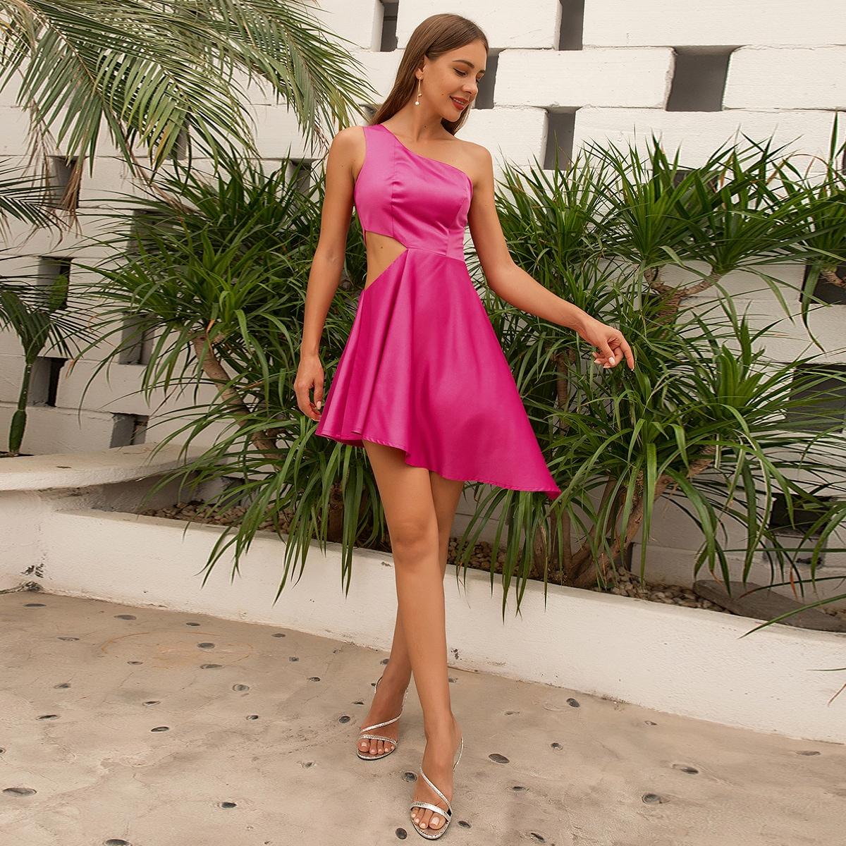Платье на одно плечо SheIn swdress31210610719