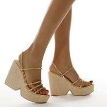 Minimalist Slingback Wedge Sandals