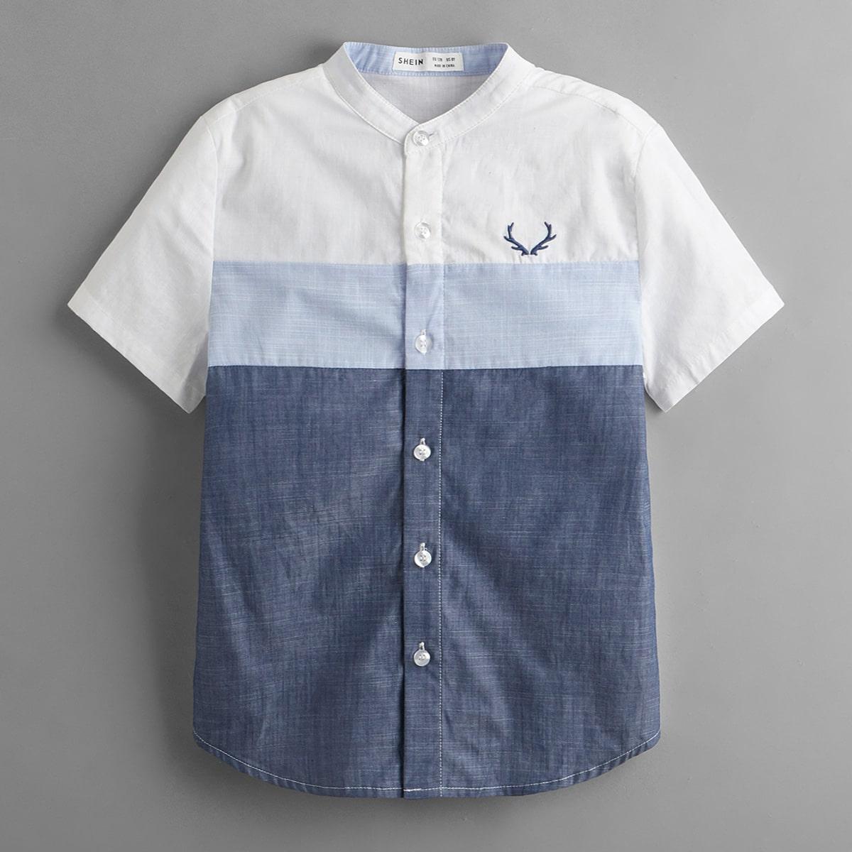 для мальчиков Рубашка с вышивкой