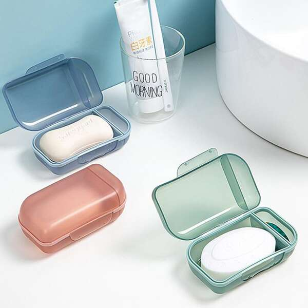 1pc Random Color Soap Box, Multicolor