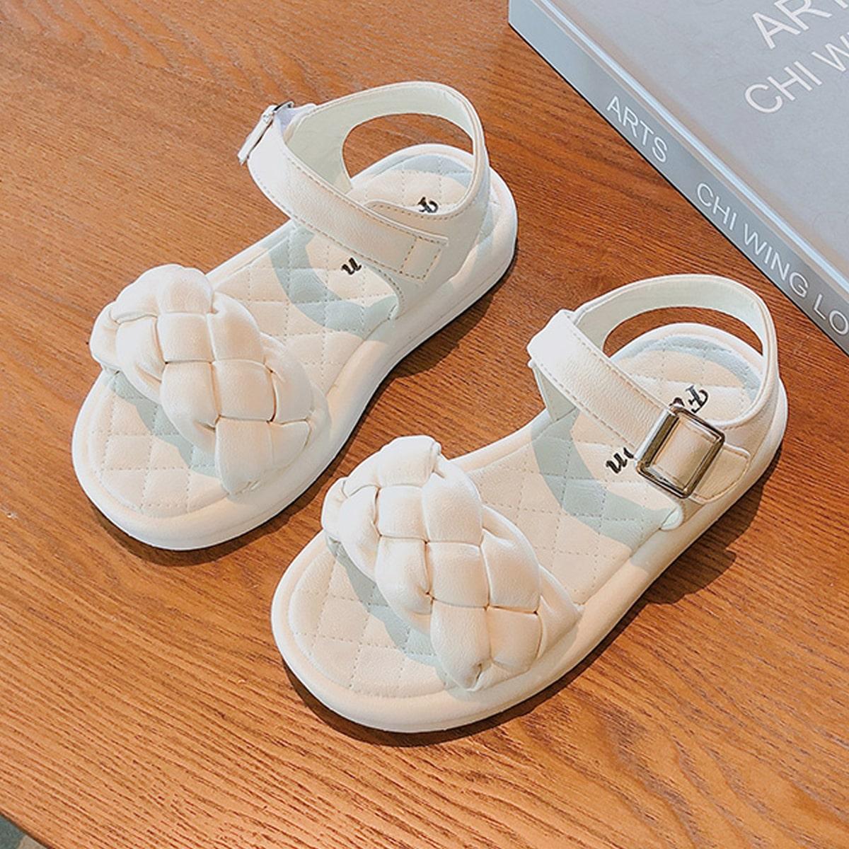 Плетеные сандалии для девочек SheIn skshoes25210603593