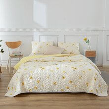 Flower Print Quilt Set Without Filler