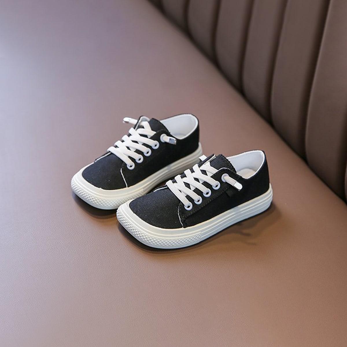 Холщовые туфли на шнуровке спереди для мальчиков от SHEIN