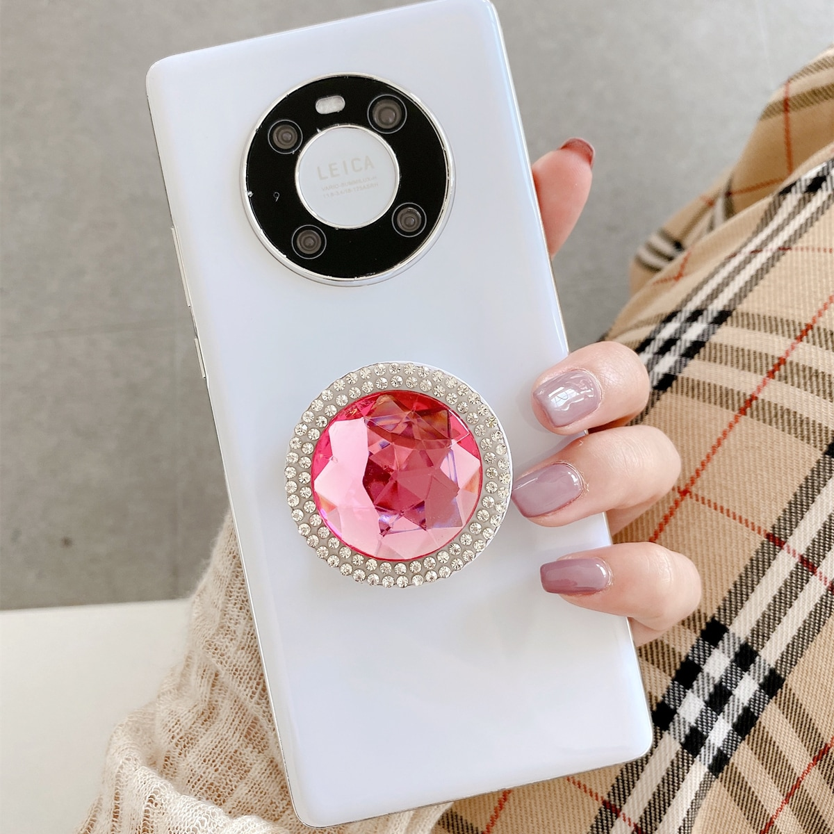 Rhinestone Stand-Out Phone Grip, SHEIN  - buy with discount
