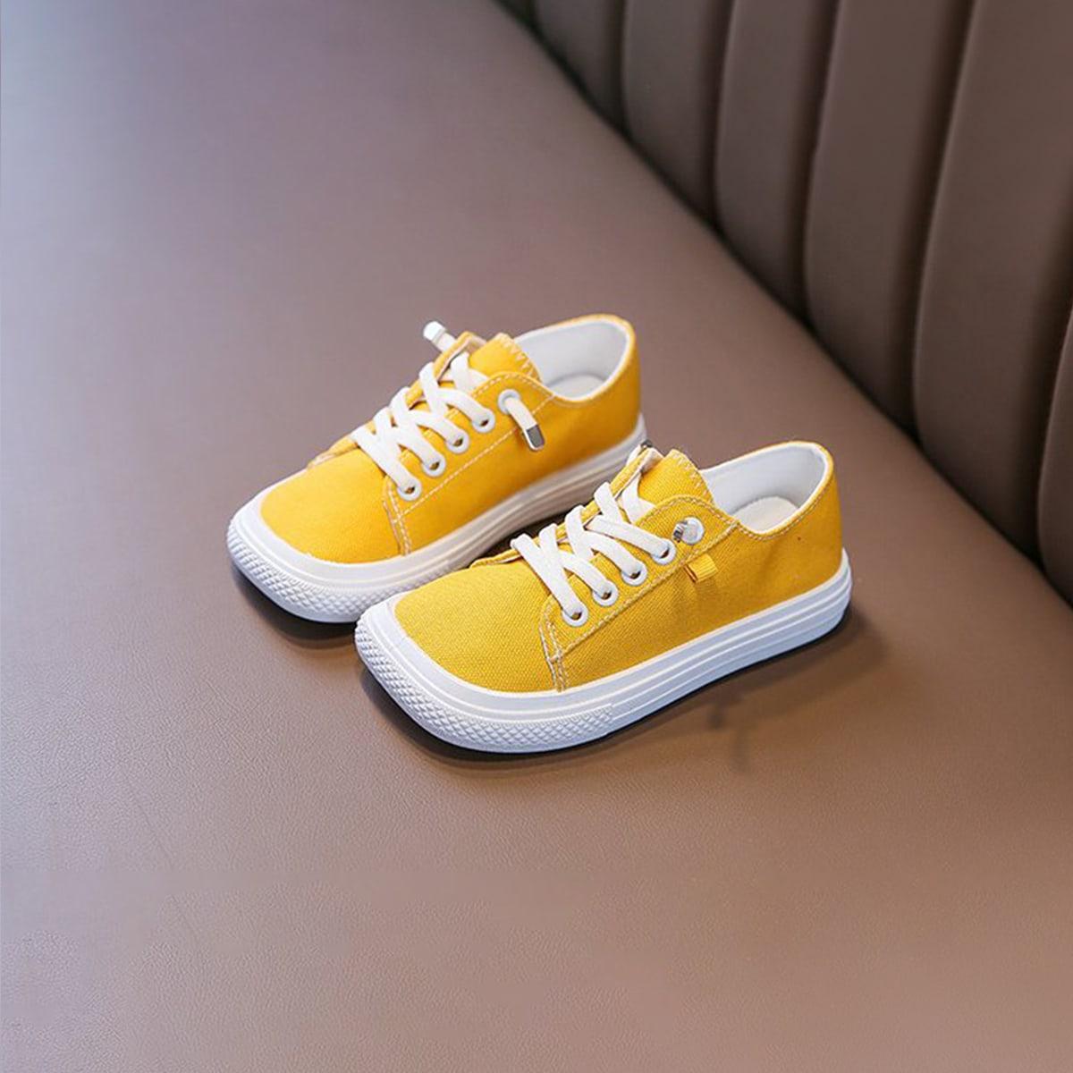 Минималистичная холщовые обувь для девочек от SHEIN