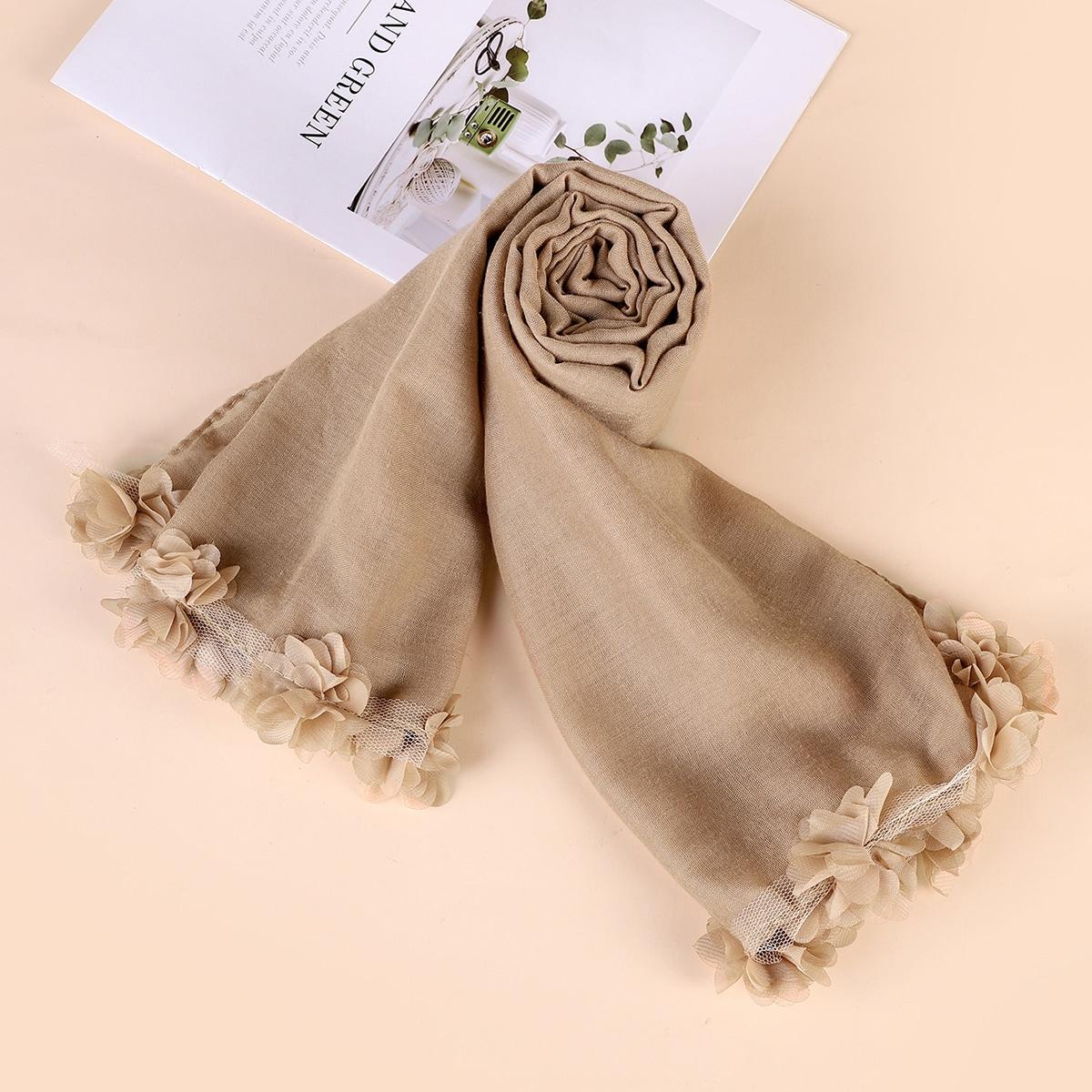 Bufanda con diseño de malla