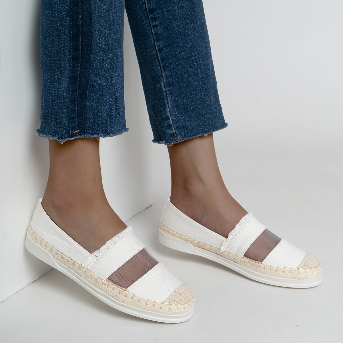 Fringe Trim Flats, SHEIN  - buy with discount