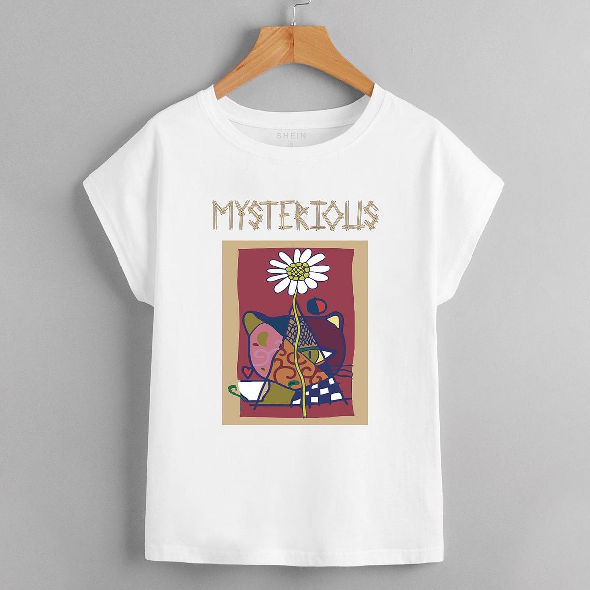 Casual Bloemen T-shirt