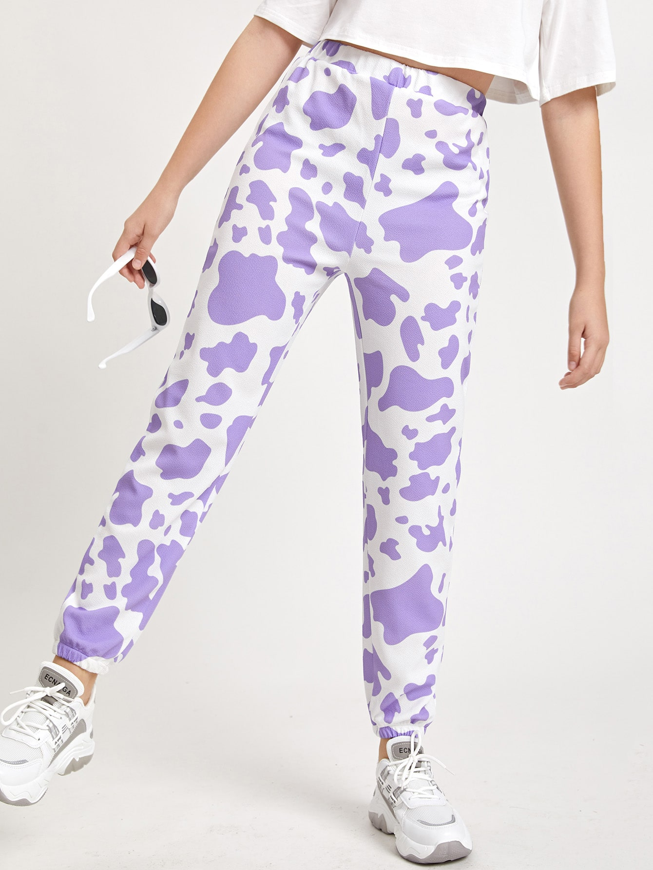 Teen Girls Cow Print Pants