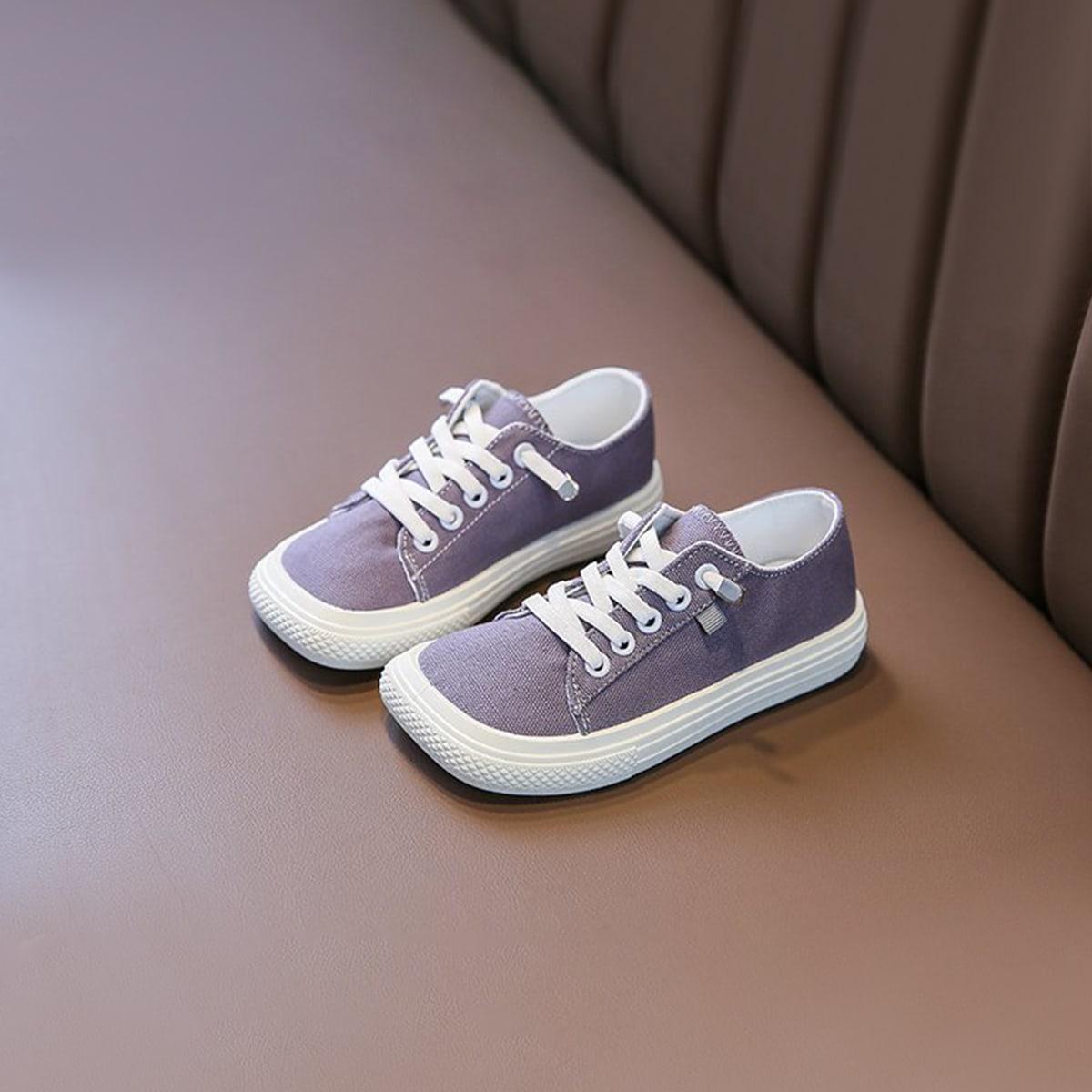 Холщовые туфли на шнурке для мальчиков от SHEIN