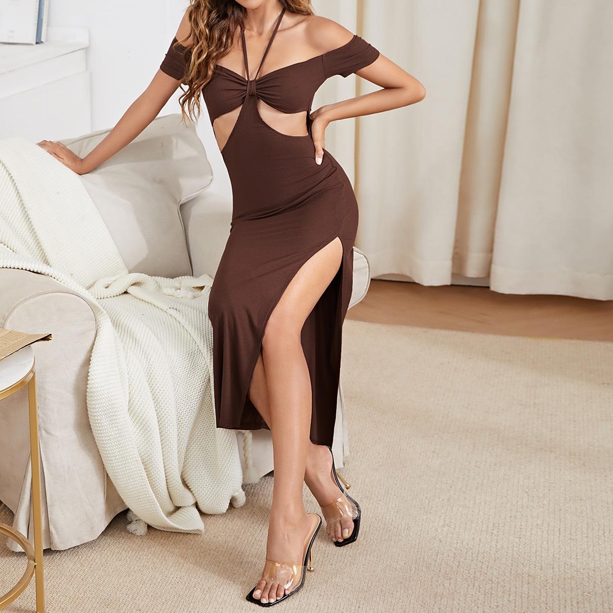 Платье высоким разрезом с разрезом SheIn swdress44210428149
