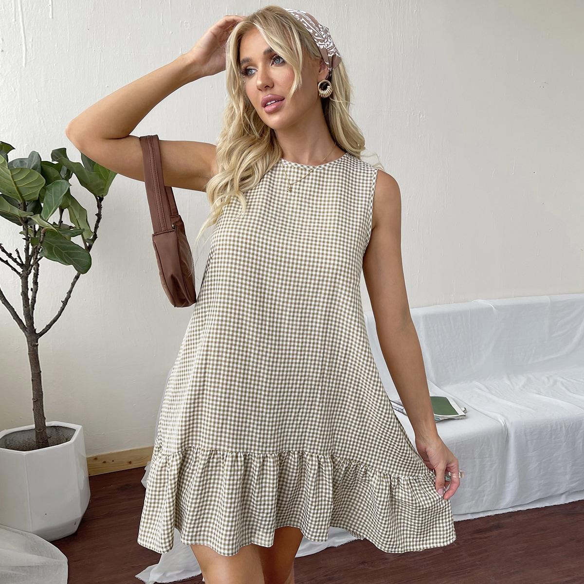 Платье в клетку SheIn swdress25210416236