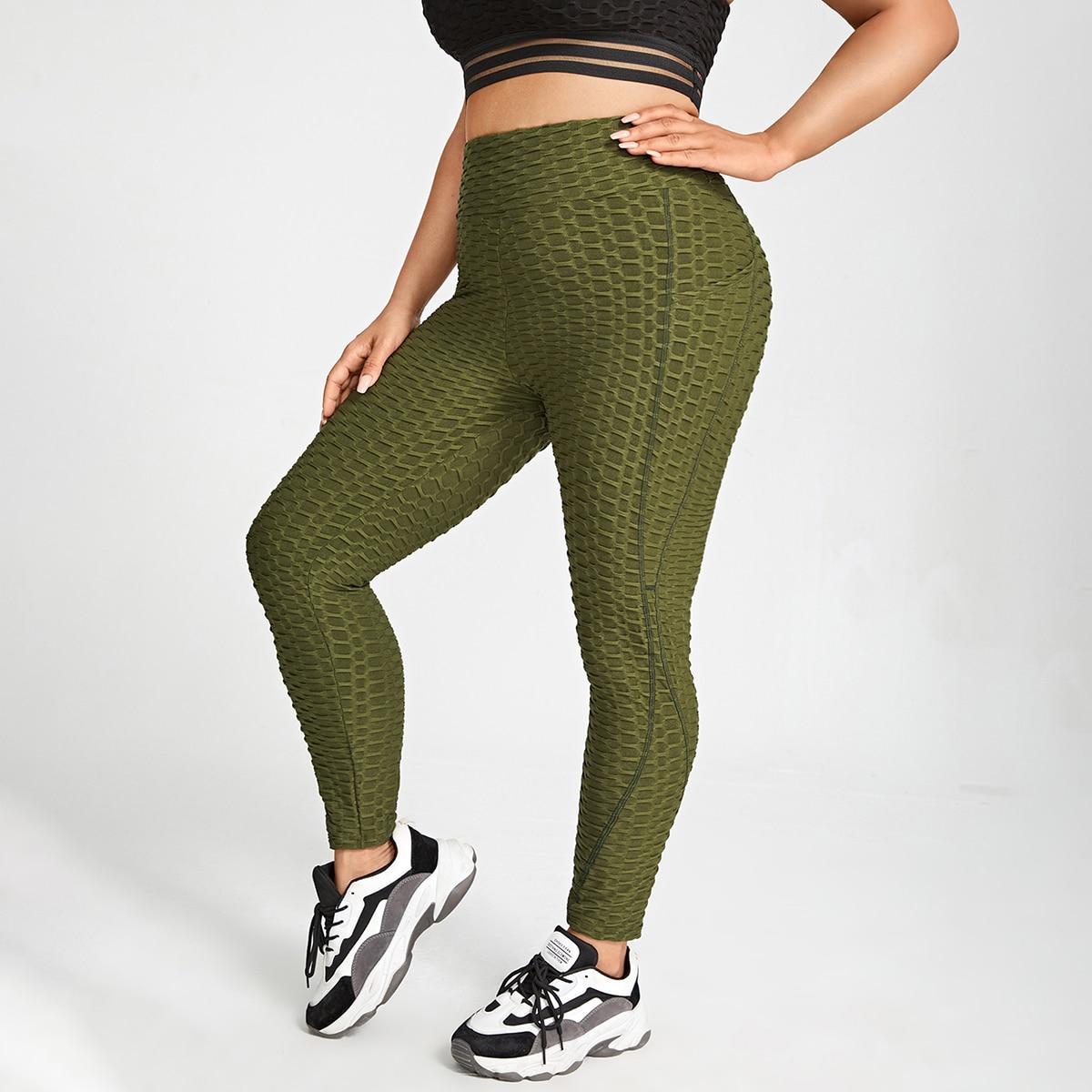 Leggings y pantalones deportivos de talla grande Bolsillo Liso