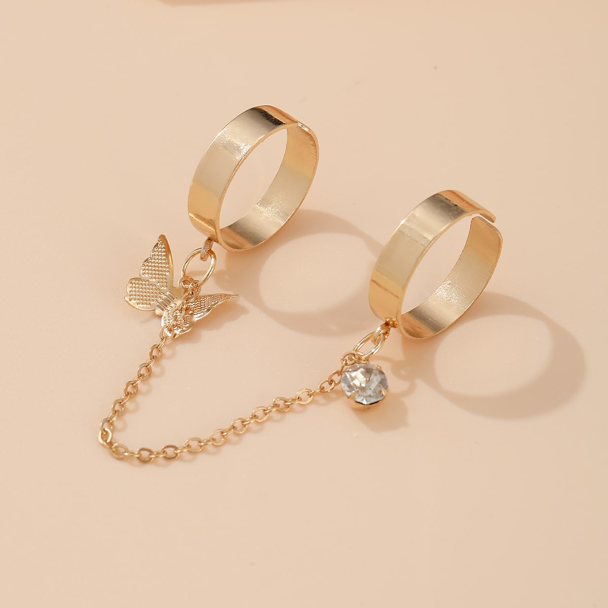 Кольцо с бабочкой варежки от SHEIN