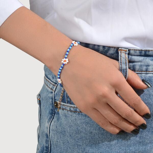 Simple Beaded Bracelet, Multicolor