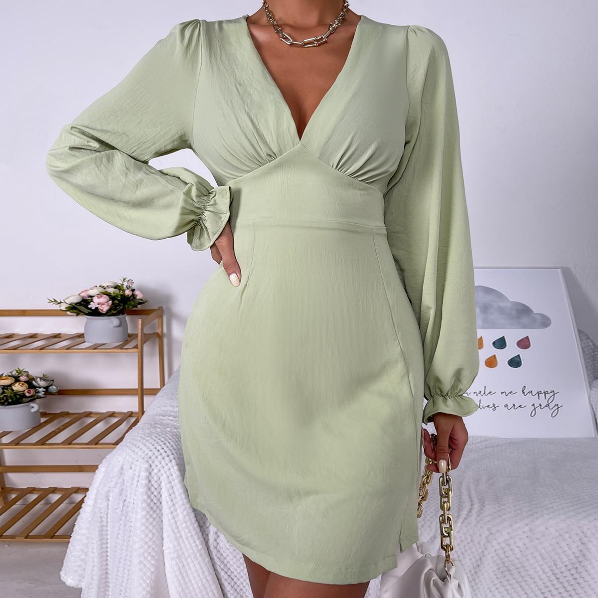 Платье с рукавами-воланами SheIn swdress25210528552