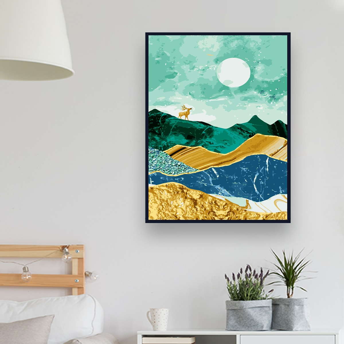 Abstract Mountain DIY Diamond Unframed Painting, SHEIN  - buy with discount