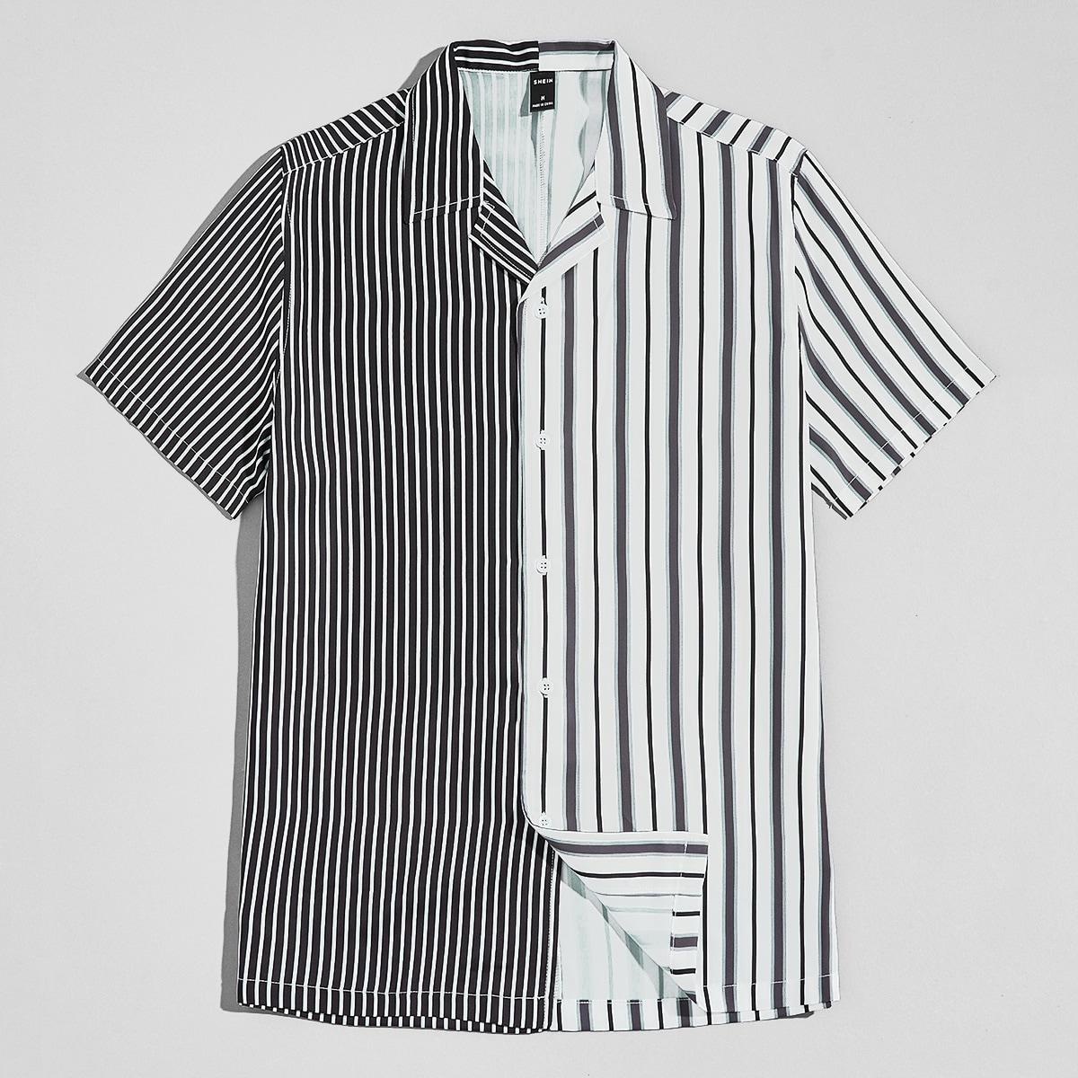 Мужская рубашка в полоску SheIn smshirt07210522575