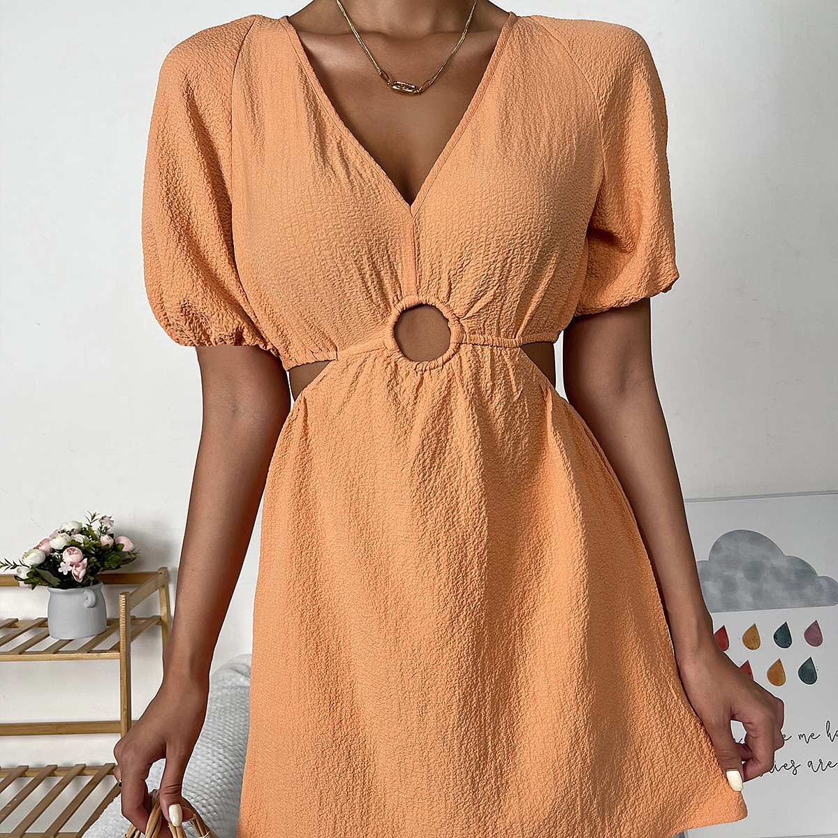 Платье с разрезом и разрезом SheIn swdress23210512739