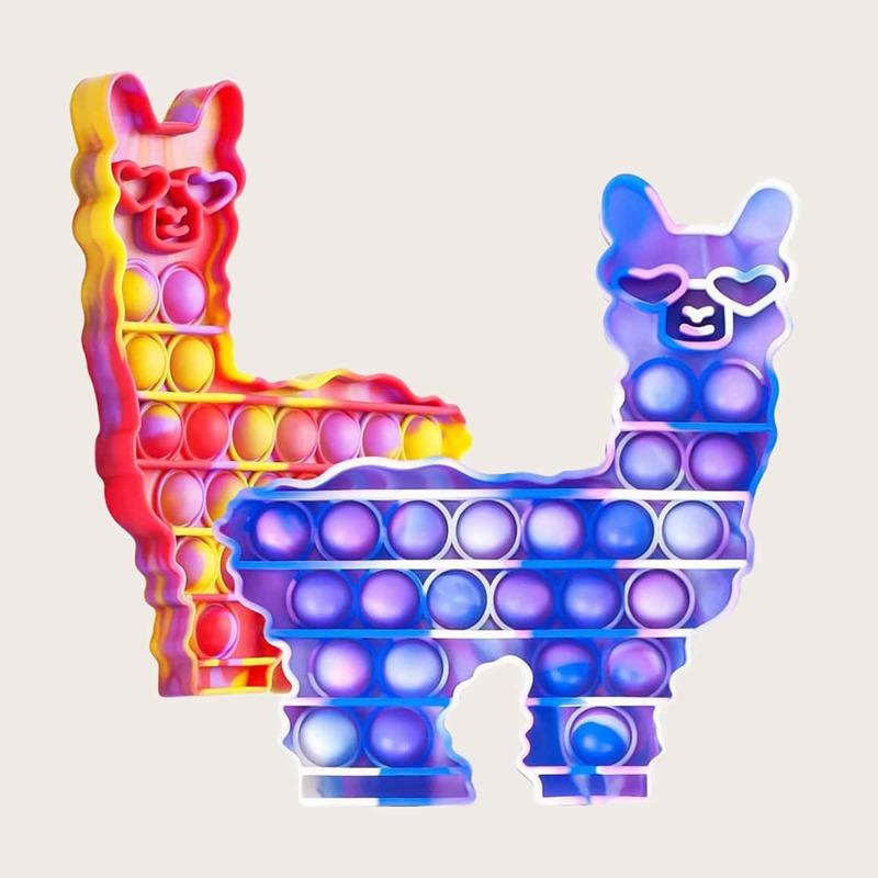 1pc Random Cartoon Push Bubble Toy, Multicolor