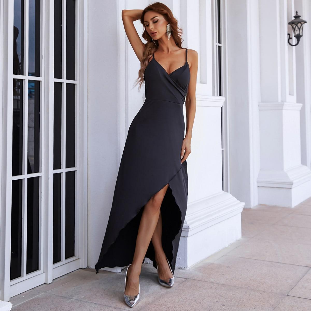 Атласное платье для выпускного вечера от SHEIN