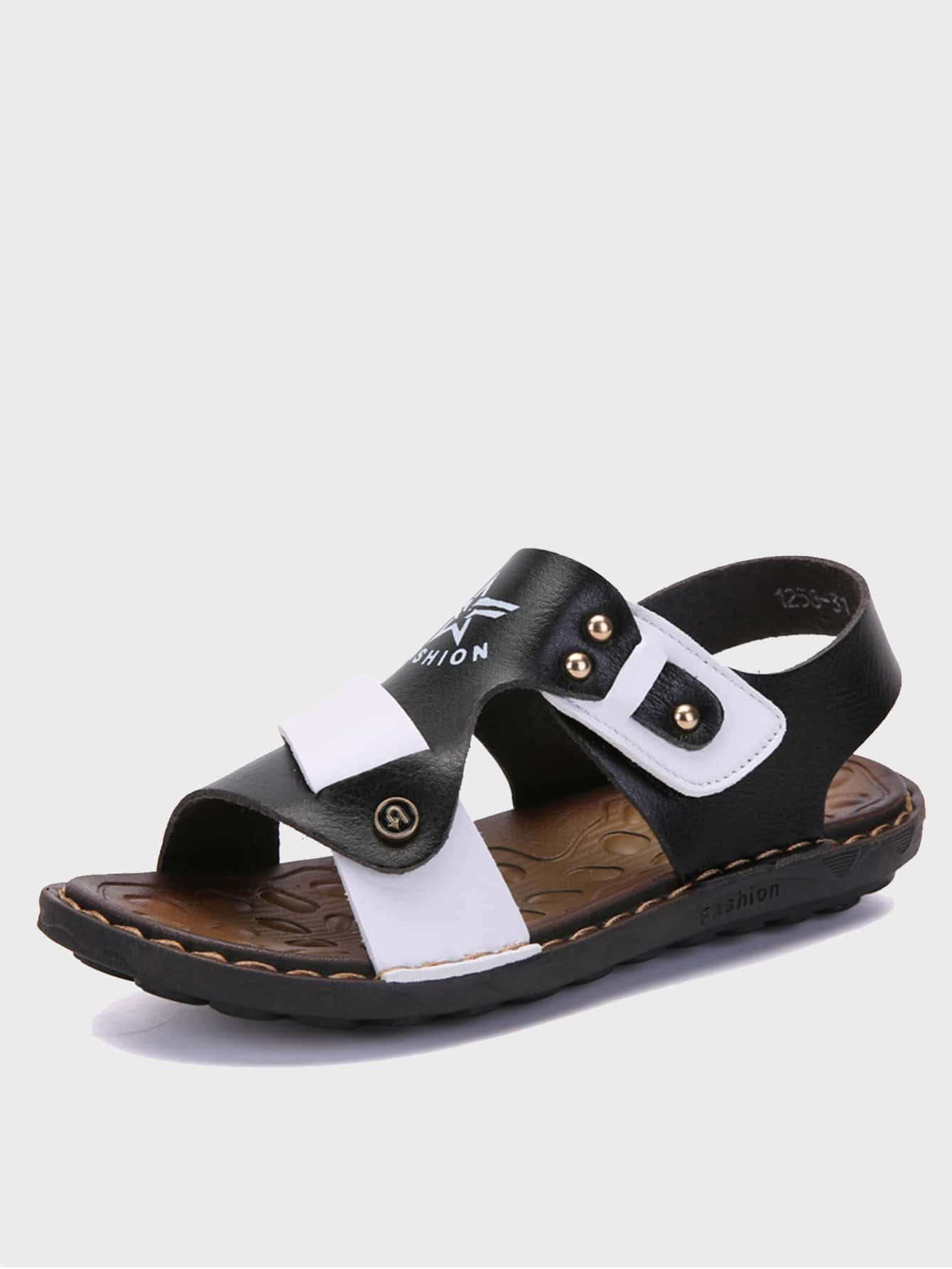 Boys Letter Graphic Two Tone Sandals