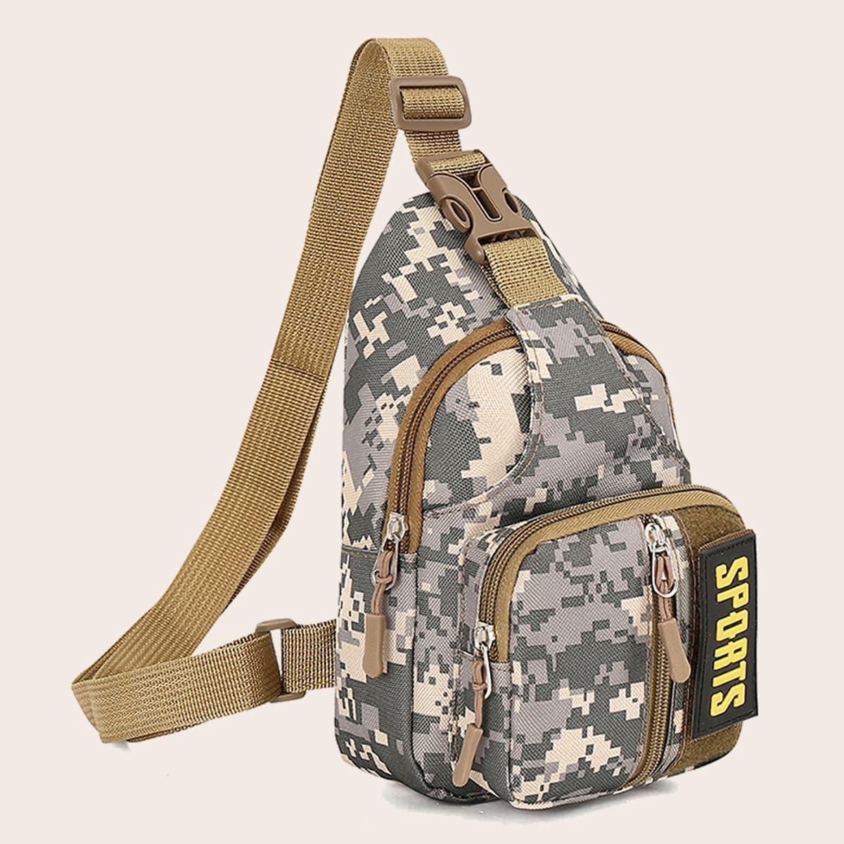 Men Camo Graphic Sling Bag