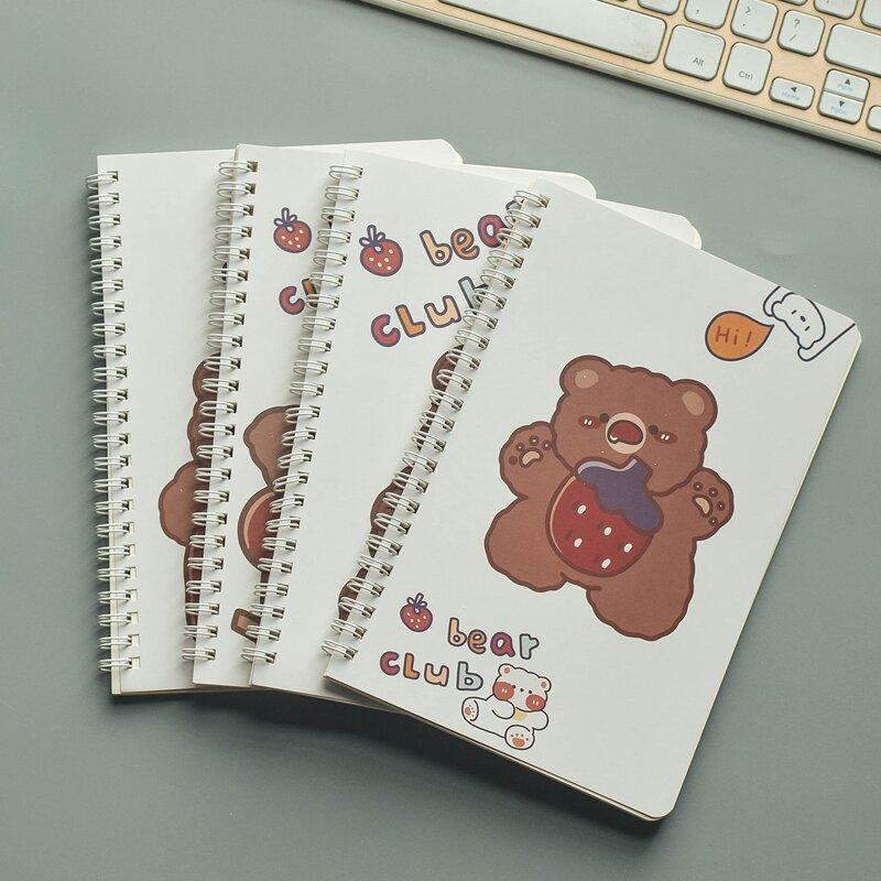 1pc Cartoon Graphic Random Spiral Notebook, Multicolor