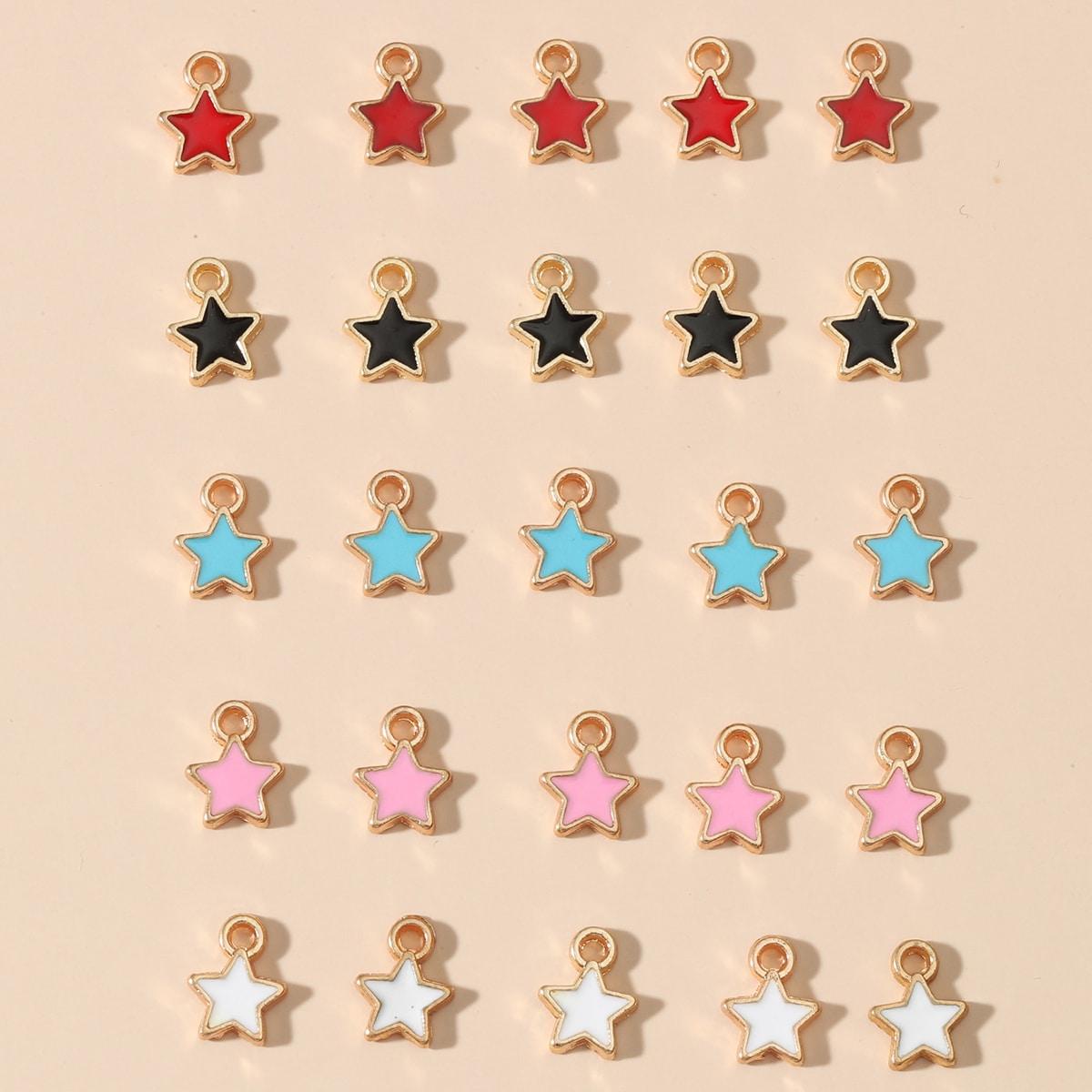 25шт DIY подвеска в форме звезды